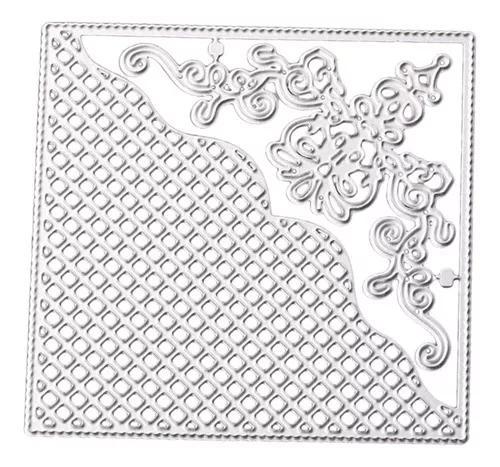 Lace quadrado papel metal