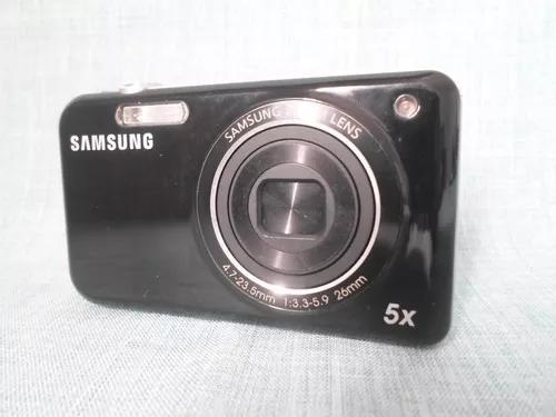 Máquina câmera digital samsung pl120 faz selfie preta