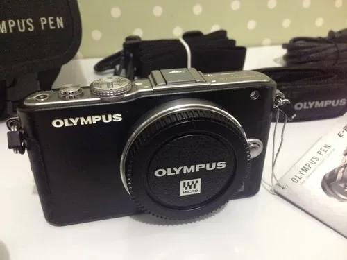 Olympus pen lite e-pl3 - mirrorless - 01 lente + acessórios