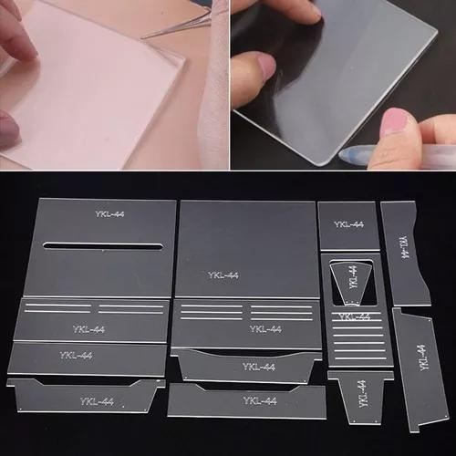 Padrão acrílico estêncil modelo handmade couro ferramenta