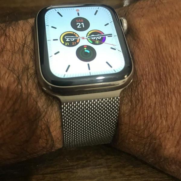 Apple watch 4 40mm stainless steel / aço inox celular