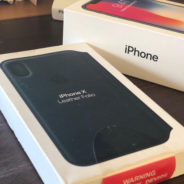 Case capa iphone x couro apple original