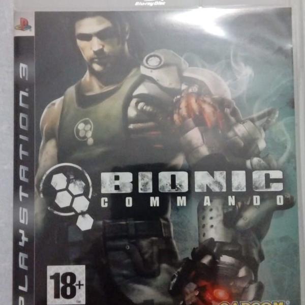 Games jogos ps3 usados bionic commando (leia a descrição)