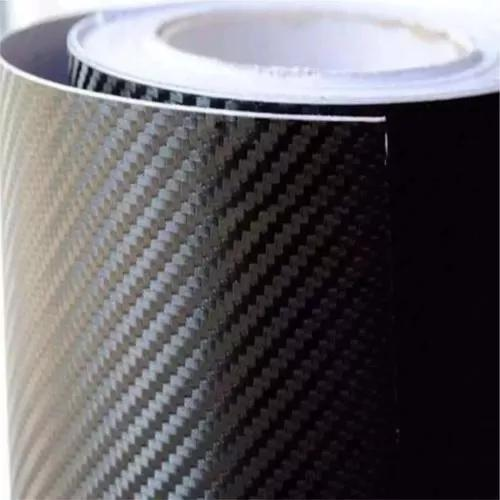 Adesivo envelopamento fibra carbono preto 1m x 30cm