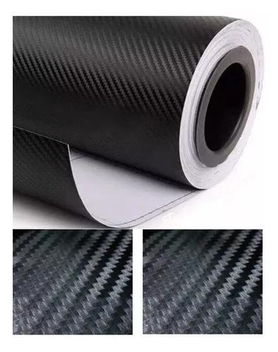 Adesivo fibra de carbono 1m x 60cm envelopamento moldável