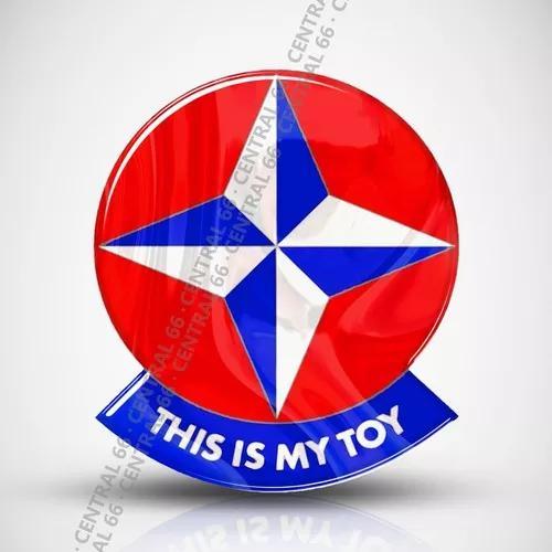 Adesivo resinado this is my toy este é meu brinquedo