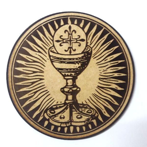 Eucaristia . enfeite de parede . mdf cru de 10 cm