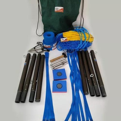 Kit beach tennis medida oficial: postes, rede e marcação