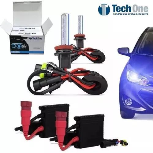 Kit xenon carro tech one 8000k lampada h1 h3 h7 h4-2 hb4
