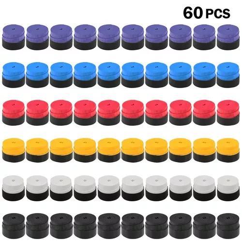 Pacote de 60 tênis racket grips anti -skid badminton