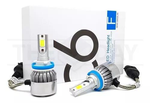 Par lâmpadas h11 super led branca 6000k 7200 lumens c6