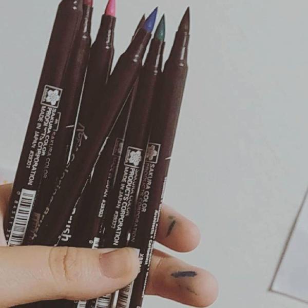 Brush pen koi