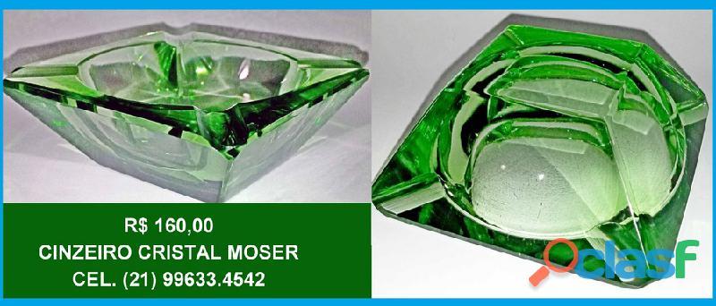 Cinzeiro quadrado.cristal moser.6,5cm