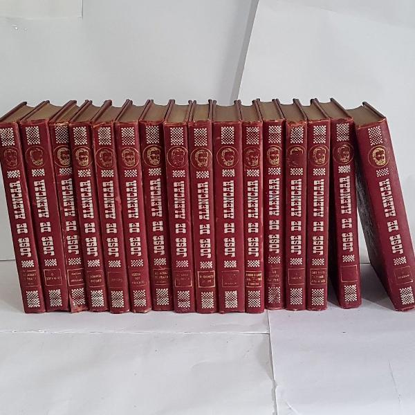 Coleção capa dura josé de alencar 16 livros