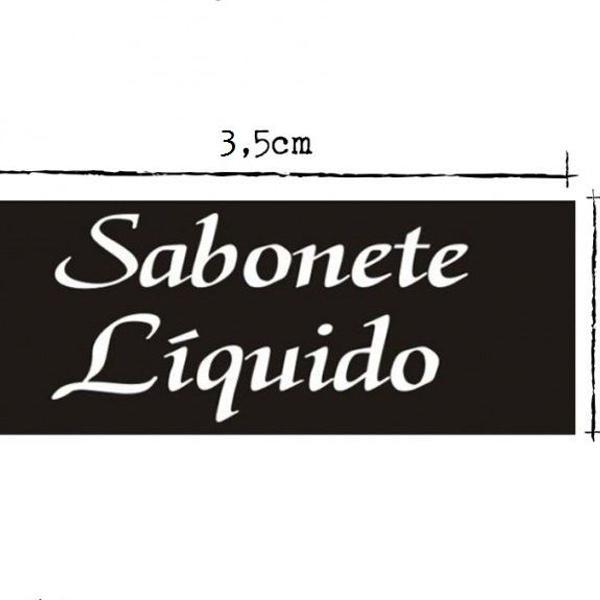 Etiqueta rótulo adesivo preto sabonete líquido 100