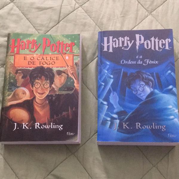 Harry potter volumes 4 e 5