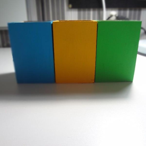 Kit 3 porta canetas/lápis coloridos