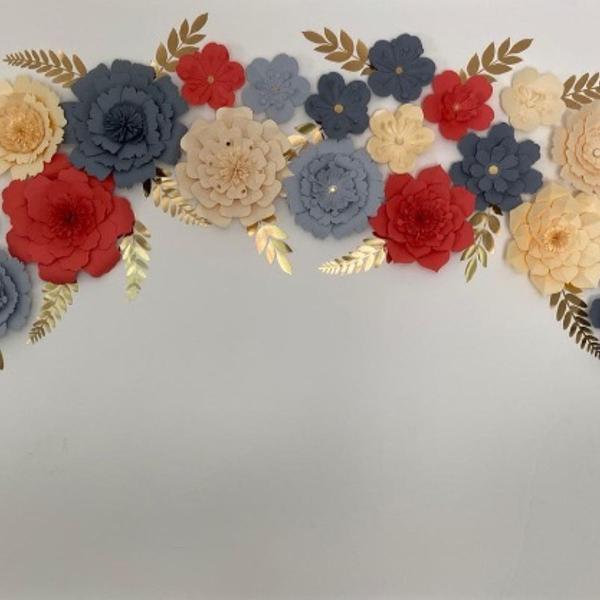 Painel flores de papel