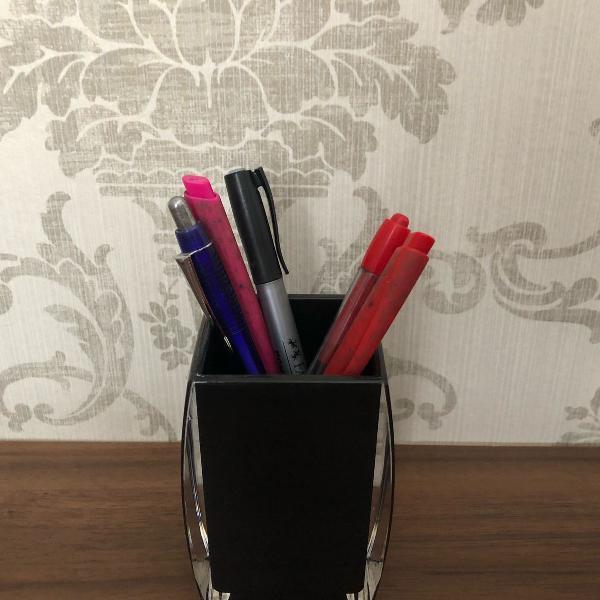 Porta canetas de acrílico
