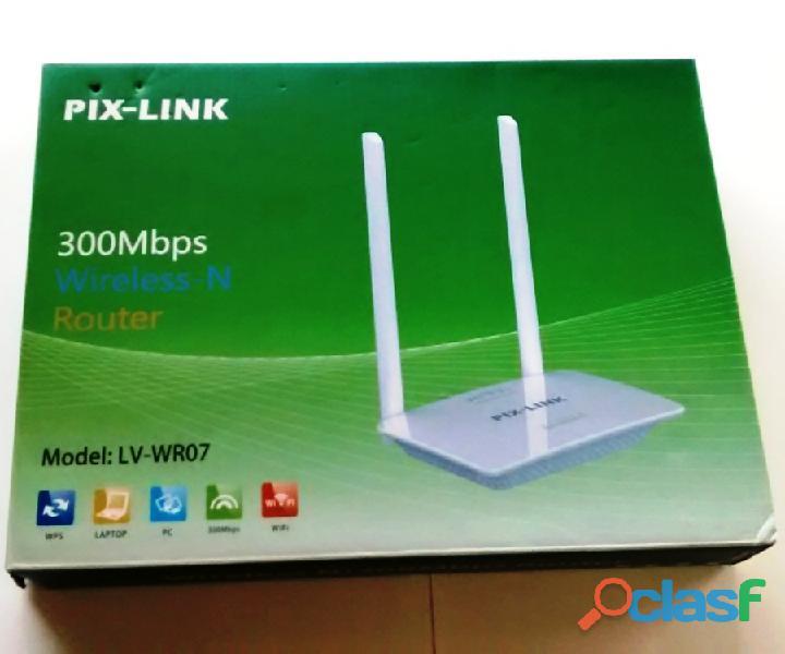 Roteador wireless 300mbps sem fio com 2 antenas externas wi fi pix link lv wr07