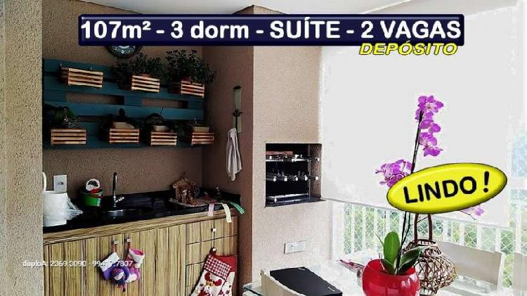 3 dorm - suíte - terraço gourmet - depósito
