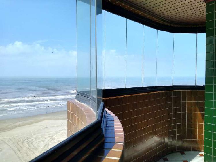 3 dormitórios frente mar, oportunidade 380 mil