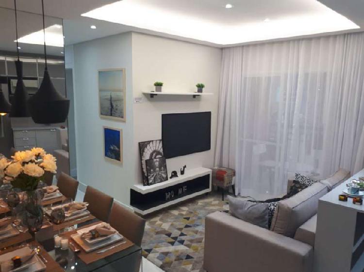 Apto 2 dormitórios 50m² a 60 m² com varanda gourmet