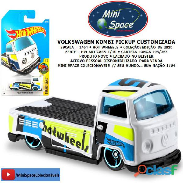 Hot wheels volkswagen t2 kombi pickup customizada 1/64