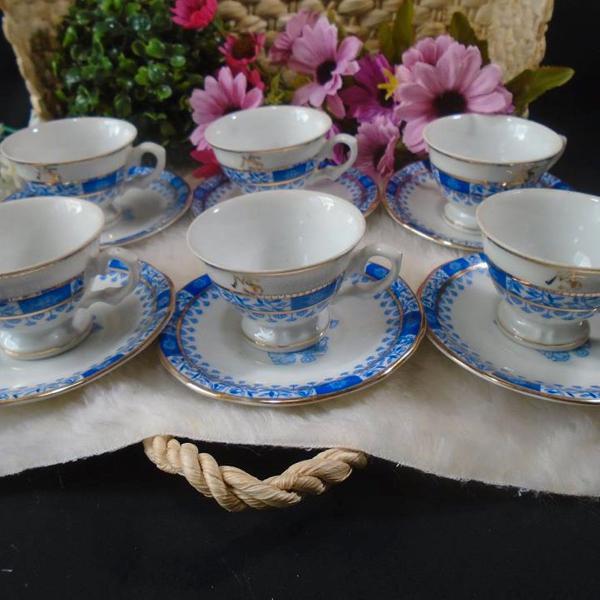 6 xicaras para café, porcelana schmidt