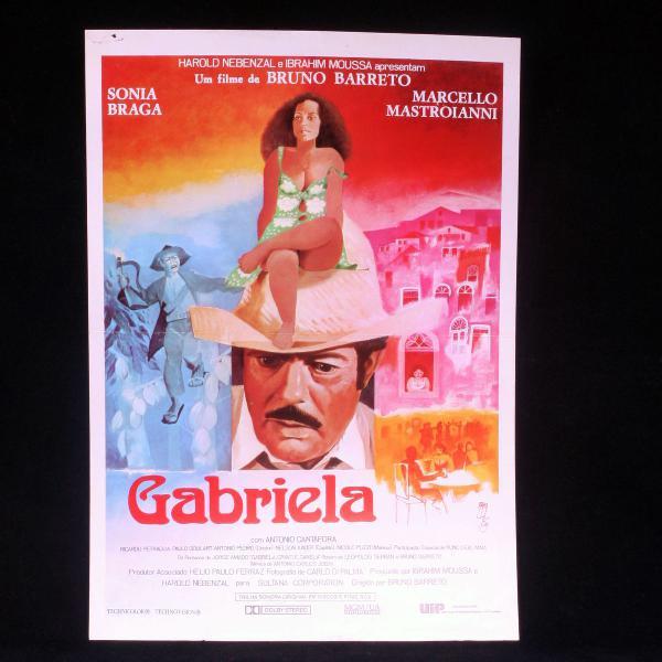 Cartazete publicitário original do filme gabriela