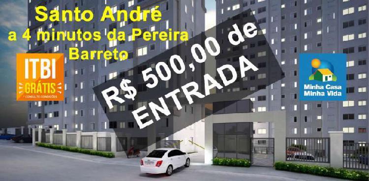 Compre seu apartamento com r$ 500,00 de entrada a 4 minutos