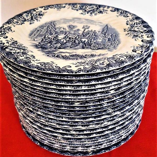 Conjunto de 24 pratos rasos de porcelana de 25cm by johnson