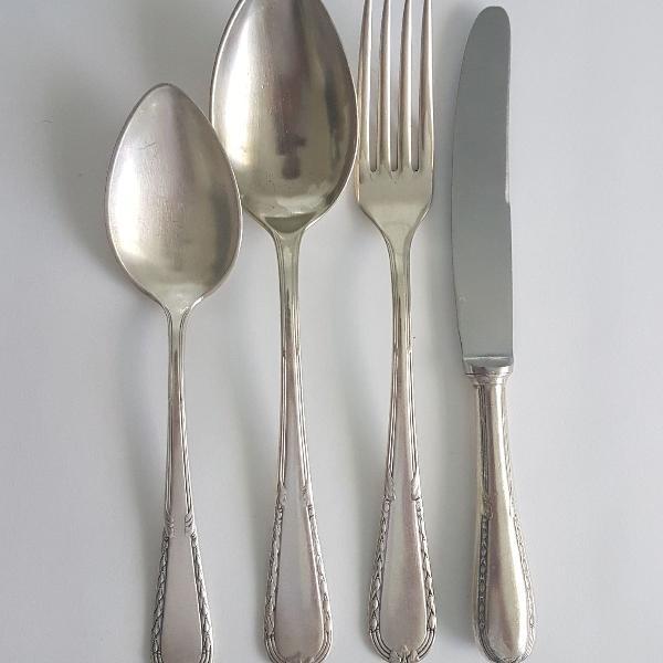 Conjunto de talheres em prata 90 wolff para uma pessoa