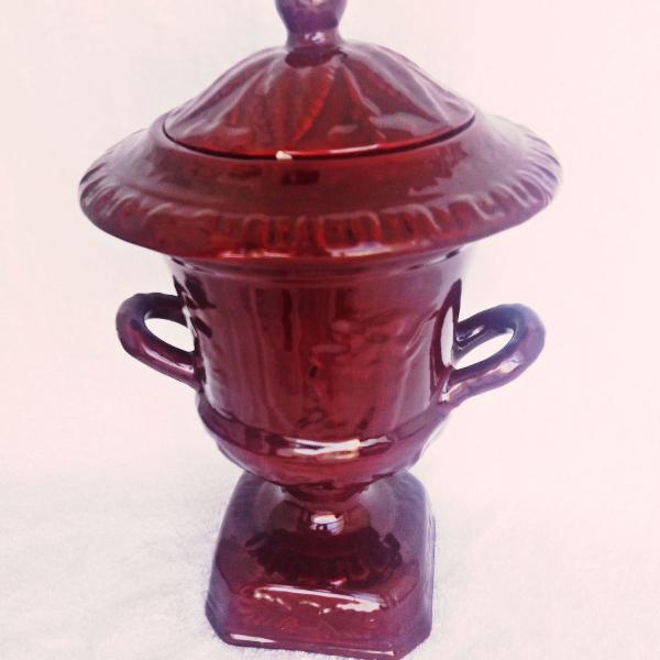 Estupenda ânfora marroquina em porcelana enorme