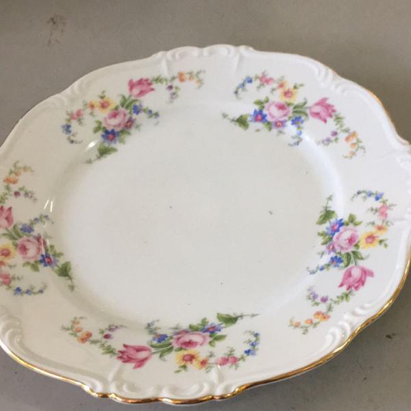 Prato de sobremesa porcelana importada antiga