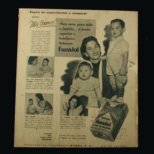 Publicidade antiga e original dos sabonetes eucalol - anos
