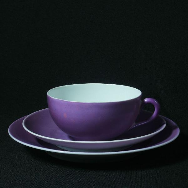 Xícara feita em porcelana tcheca - década de 1960