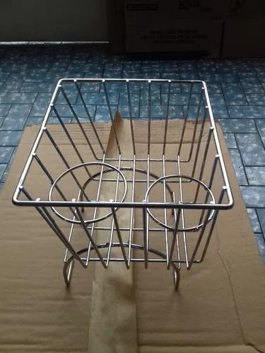 Coifa cesta do fusca do tunel cromada cestinha porta copos