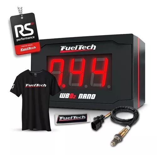 Fueltech wideband o2 meter nano c/ sonda bosch chicote 2m