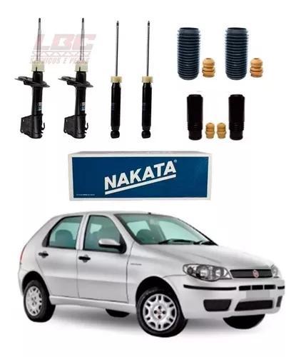 Kit 4 amortecedor nakata + kit palio 2007 2008 2009 2010