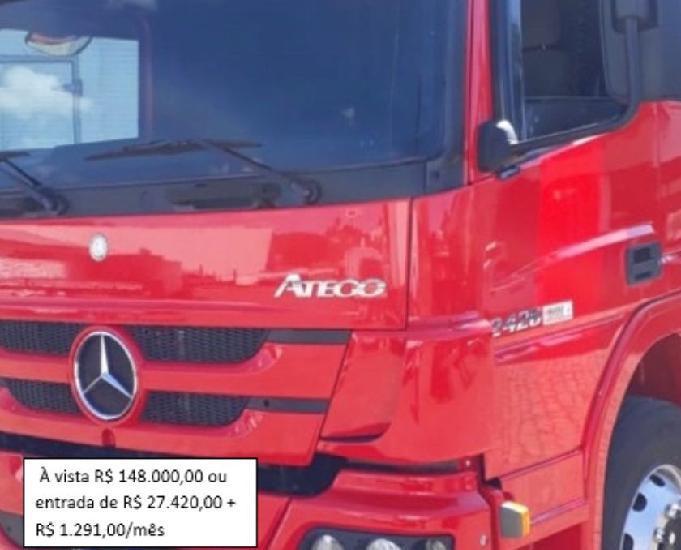 Mb atego 2426 carroceria 2014 truck