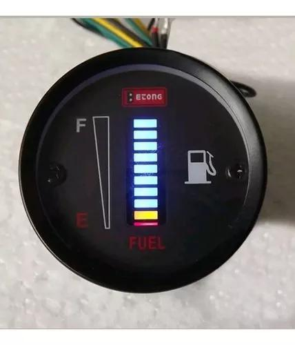 Marcador de combustivel universal digital mega promoção
