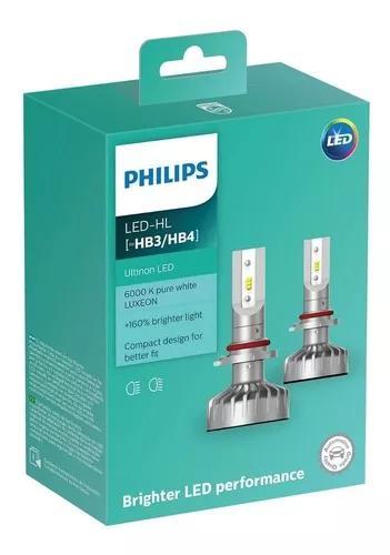 Par lâmpada philips led ultinon hb3 hb4 12v 6000k 160% +