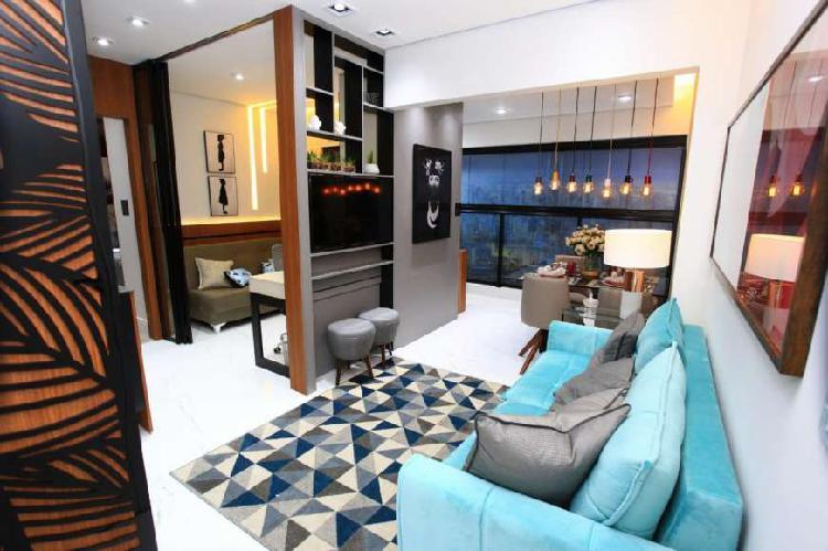 Studio de 1 dormitório com terraço integrado perto avenida