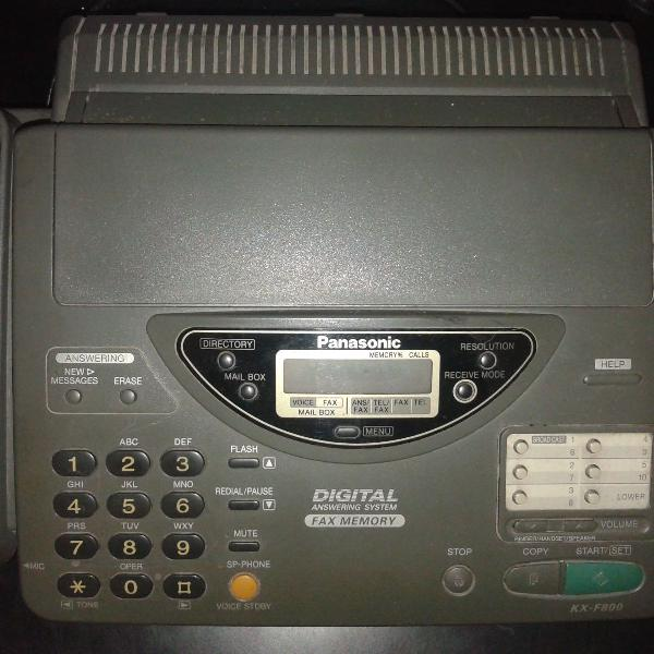 Aparelho de telefone / fax panasonic call 1-800 help fax