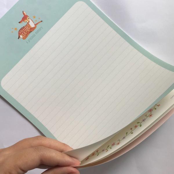 Bloquinho c/ 9 papéis de carta