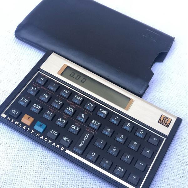 Calculadora hp 12c gold financeira - novinha!
