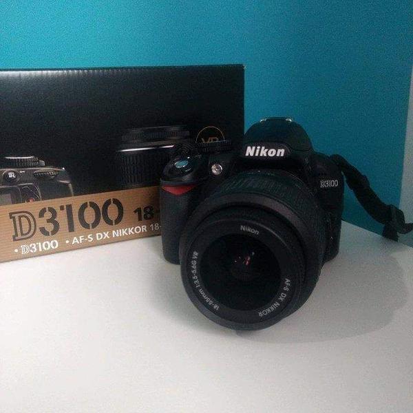 Câmera digital nikon dslr d3100 + lente 18-55mm