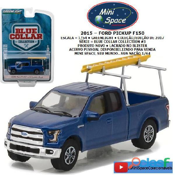 Greenlight 2015 ford f 150 pickup com rack 1/64