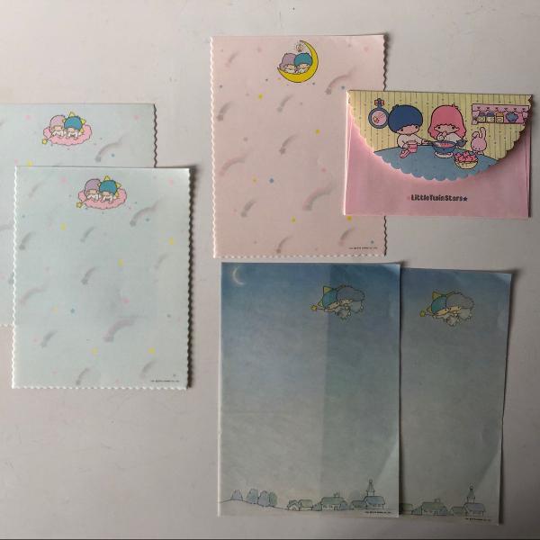 Kit de papeis de carta vintage da sanrio